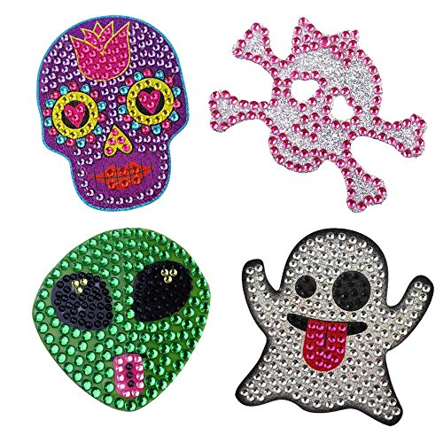 StickerBlingBling Gemz Crystal Rhinestone Spooky Sparkles 4 Pack Perfect for Water Bottles hydroflasks Phone Gear Back to School or as a Birthday Gift