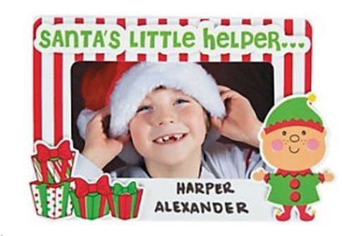 Santas Little Helper Pic Mag Frame Craft Kit -12 – Crafts for Kids and Fun Home Activities