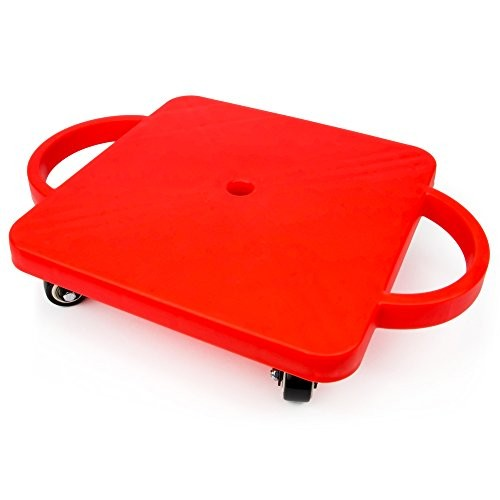 K-Roo Sports 115 Gym Class Super Scooters Sliding Board with Non-Skid Casters and Safety