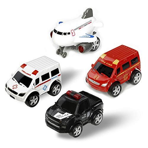 Deceny CB Play Car Toys for Toddlers Friction Powered Cars Push and Go Car