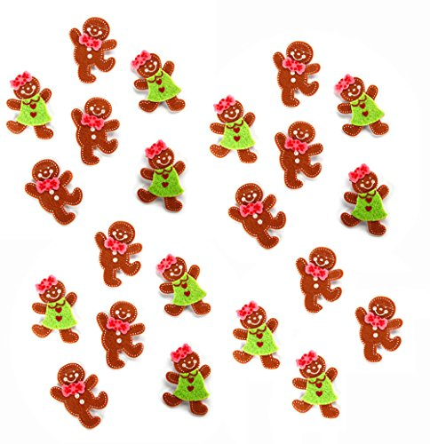 Felties Layered Gingerbread Stickers – 22 Pieces per pack