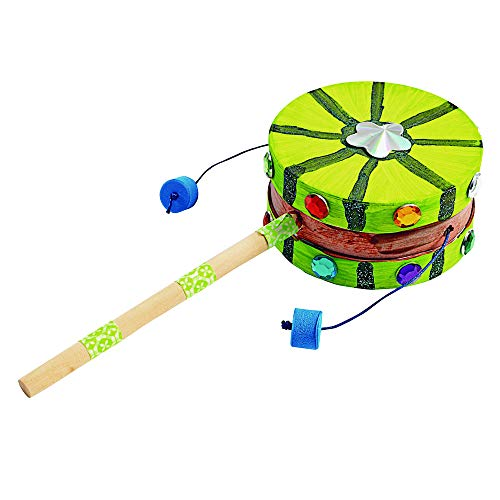 Colorations Kids Decorate Your Own Spin Drum Craft Kit Arts & DIY Item # SPINDRUM
