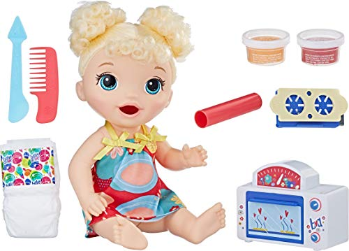 Baby Alive Snackin Treats Blonde Curly Hair