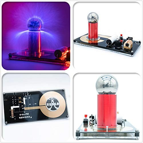 Sunnytech Spark Gap Tesla Coil Artificial Lightning Generator Touchable High Efficiency Science Project SGTC Magic Prop WH12