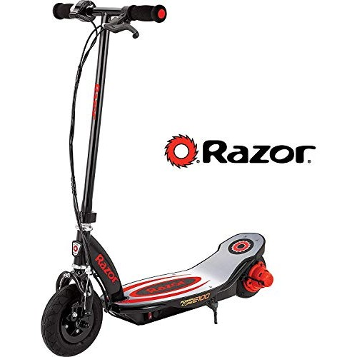 Razor Power Core E100 Electric Scooter – Aluminum Deck – Red