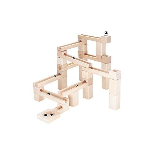 KUBI DUBI Marble Run Sets – Wooden Stacking Toy Show Toddlers Cause and Effect Building Toys Engage Curiously Who Wins On Race Tracks Invest in Your Children Today