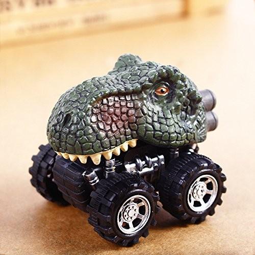 T Rex Dinosaur Pull-back Car Toy Simulated Dino Dragon Head Vehicle Mini Monster Car