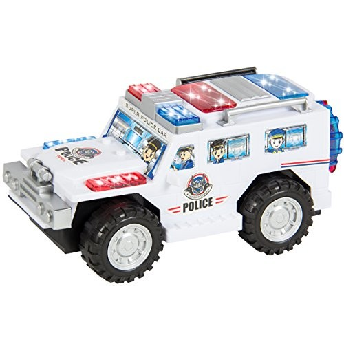Best Choice Products Electric Toy Bump and Go Police Car w/ Flashing Lights and