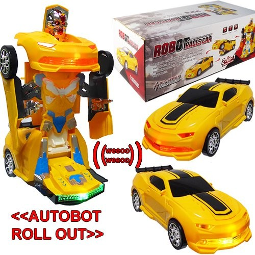 Broward Toys Robot Race Car Bump and Go Action with Lights and Sounds