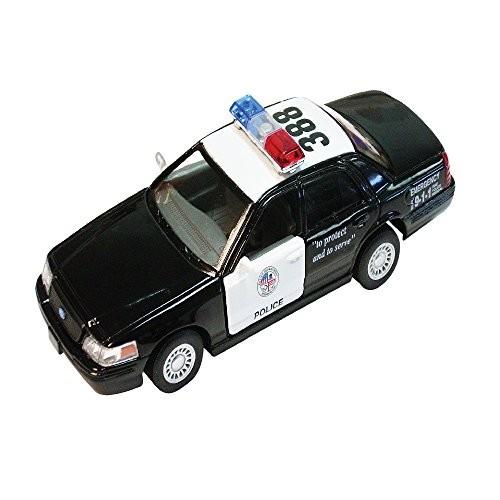 Rockin Gear Police Car Toy – Crown Victoria Toy Police Car – Diecast Metal