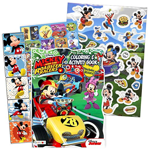 Bendon Intl Disney Favorite Characters Coloring Books For Kids With Stickers Mickey And The Roadster Racers Educational Toys Planet