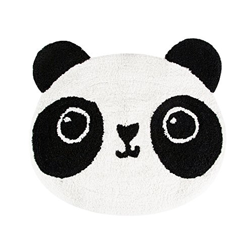 OLIA HOME Panda Shaped Cartoon Carpet Creative Mat Cute Floor Comfy Bedroom Decorate Kids Playing 24 inch by 20