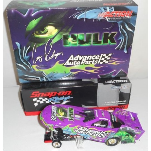 Action Racing Cruz Pedregon Advance Auto Parts Hulk 2003 GM Funny Car 1/24