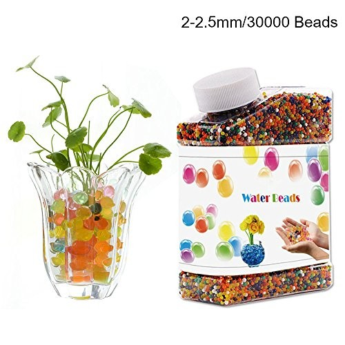 Water Gel BeadiDeep Colorful Mix Beads Jelly Growing Balls 917oz About 30000 Beads for Kids Sensory Toys Vase Filler Plants Craft Party Wedding