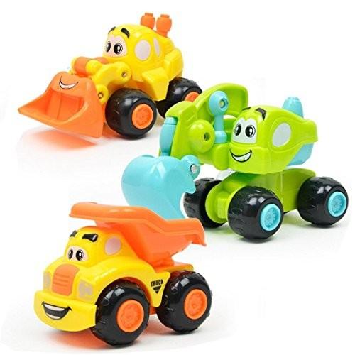 Baomabao 1pc Baby Kids Engineering Car Toy Cute Twist Forward Movement Clockwork Gift