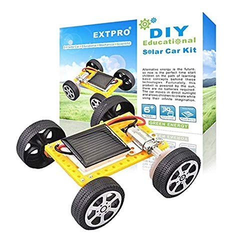 Extpro Solar Car – DIY Assemble Toy Set Powered Kit Science Educational for Kids Students