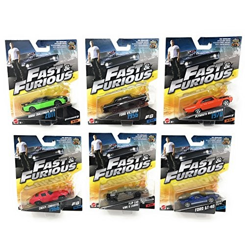 Fast & Furious Premium Die-Cast Cars Random Bundle of 6 Vehicles