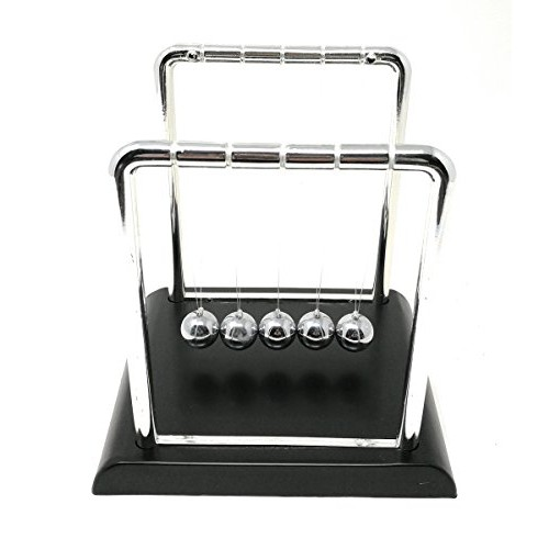 THY COLLECTIBLES Newtons Cradle Balance Balls 5 1 2 inch Desk Top Decoration Kinetic Motion Toy for Home and Office Small 55