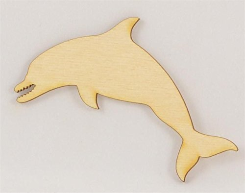 Package Of 10 Dolphin Wood Cutout 4 x 275 Easy To Paint Or Decorate Give Craft Project Unique Look