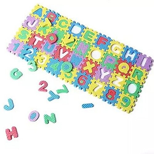 Swovo Baby Mini Puzzle Alphabet Number Play Mat Kid Educational Toy Foam Floor 36pcs