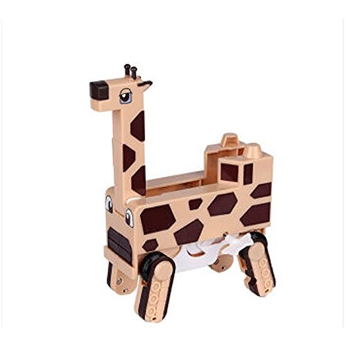 RW Giraffe Auto Transform Into Car Wind-up Lovely Zoo Animal Toy for Kids Automatic
