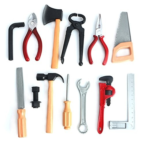 bjduck99 Plastic Building Tool station Kits Set Kids DIY Construction Educational Toys