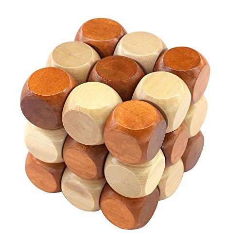 27 Pieces Wooden Magic Cube Building Blocks