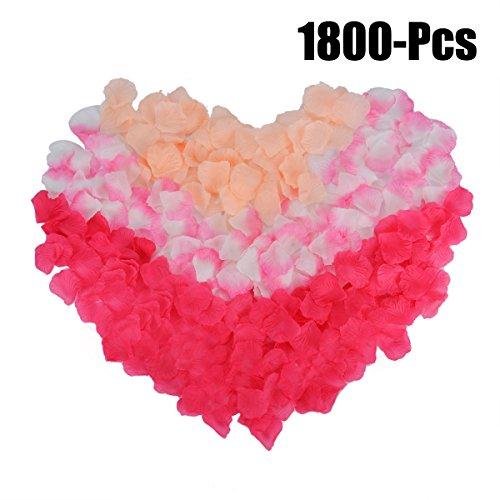 Rose Petals Coxeer 1800Pcs Flower Artificial Decoration for Valentine Decorations Wedding or Home Hotel Garden Bouquet Party
