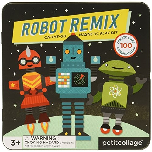 Petit Collage Mix and Match Magnetic Tin Robots