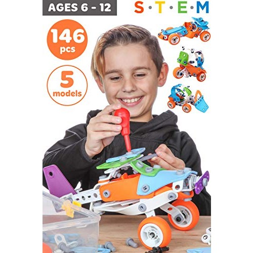Toy Pal Stem Toys For 7 Year Olds Boys Educational Kids Building Age 6 8 Best Gifts 9 10 Old 146 Pc Engineering Kit Boy Educational Toys Planet