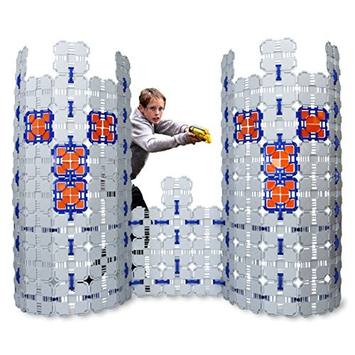Blaster Boards – 4 Pack Kids Fort Building Kit for Nerf Wars & Creative Play 184 Piece Set