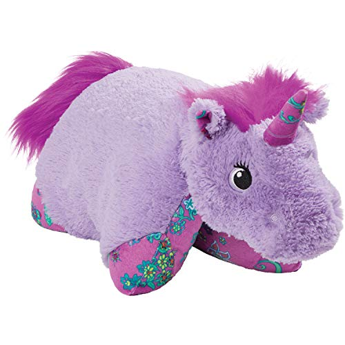 Pillow Pets Colorful Lavender Unicorn 18 Stuffed Animal Plush Toy