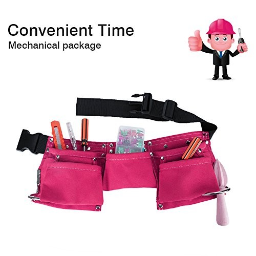Greatstar Kids Tool Belt Construction Child's Apron Candy Pouch for Youth Dress Up and Costume Pink