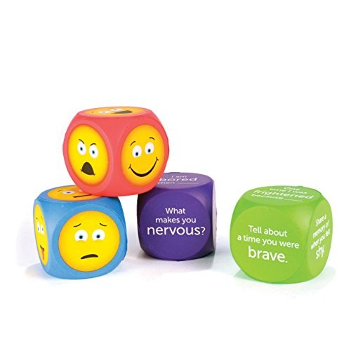 Learning Resources Soft Foam Emoji Cubes Conversation for Kids Set of 4 Ages 3+