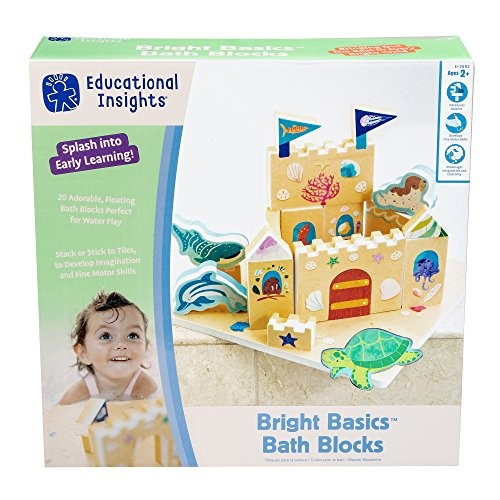 Educational Insights Bright Basics Bath Blocks Set of 24 Toy for Toddlers Ages 3+