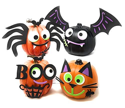 Funiverse Mega Bulk Pack 126 Piece Foam Halloween Pumpkin Decorating Craft Kit Stickers – Makes 16 Pumpkins Pumpkins Not Included