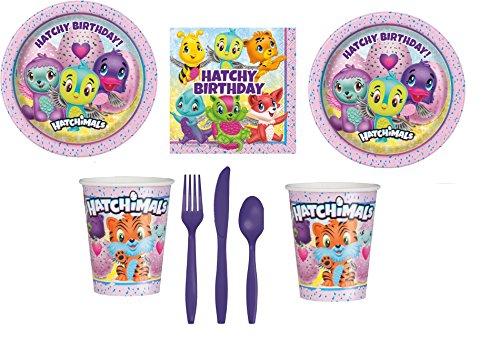 Hatchimals Party Pak Kit Bundle for 16 Guests – Dessert Plates Beverage Napkins Cups Cutlery