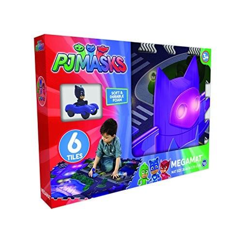 Pjmasks Mega PlayMat with Vehicle 6 Piece Pack of 7 Multicolor