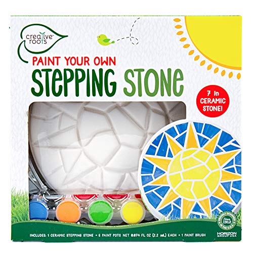 Creative Roots Paint Your Own Mosaic Sun Stepping Stone by Horizon Group USA