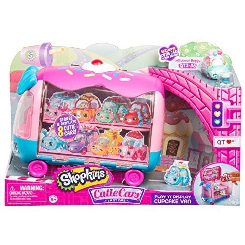 Shopkins Cutie Cars   Play 'n' Display Cupcake Van with Exclusive Cutie Car