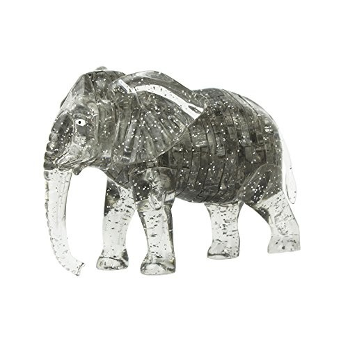 Oldeagle DIY Crystal Puzzle Cute Elephant Model 3D Gadget Blocks Building Toy Gift Gray
