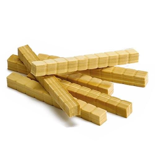 EAI Education QuietShape Foam Base Ten Rods Faux Wood – Set of 50