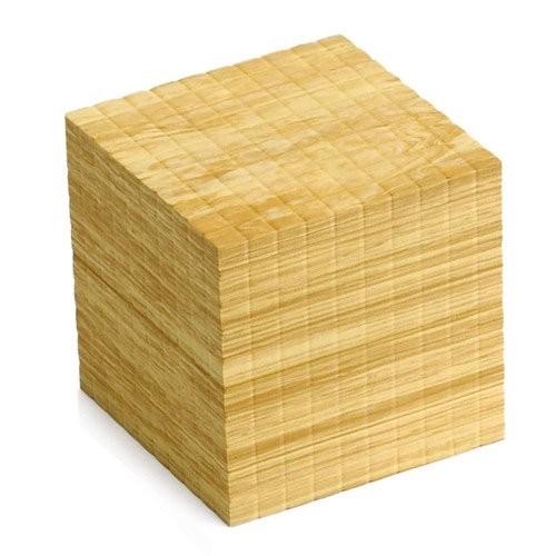 EAI Education QuietShape Foam Base Ten Thousand Cube Faux Wood