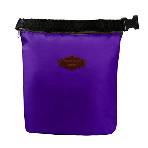 Sothread Waterproof Thermal Cooler Insulated Pouch Lunch Bag Portable Tote Storage Picnic Bags Purple