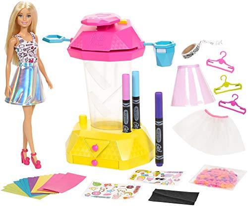 Barbie Crayola Confetti Skirt Studio Crafts Playset with Doll