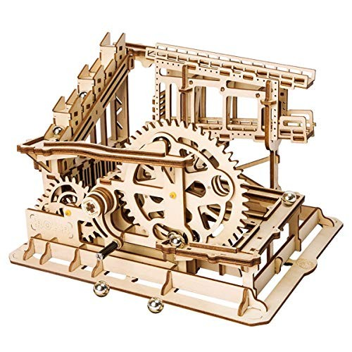 ROKR 3D Wooden Puzzle Adult Craft Model Building Set Mechanical Marble Run Games Home Decoration-Educational Toy for ChristmasBirthday Gift Boys and Girls Age 14+ Magic Crush Cog Coaster