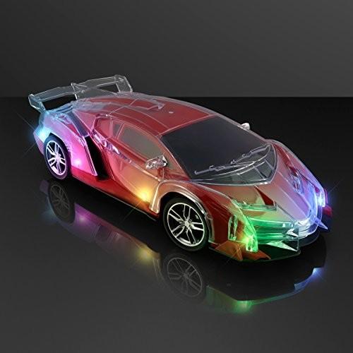 FlashingBlinkyLights Remote Control LED Race Car Light Up Toy