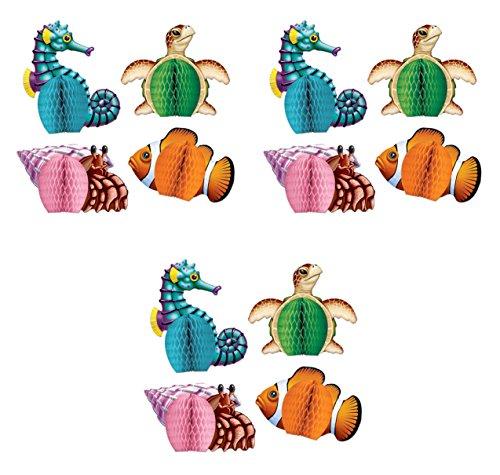 Beistle Sea Creatures Mini Centerpieces Multicolored 12 Piece
