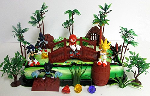 Cake Toppers Sonic and Friends Deluxe Game Scene Birthday Party Featuring Figures Decorative Themed Accessories