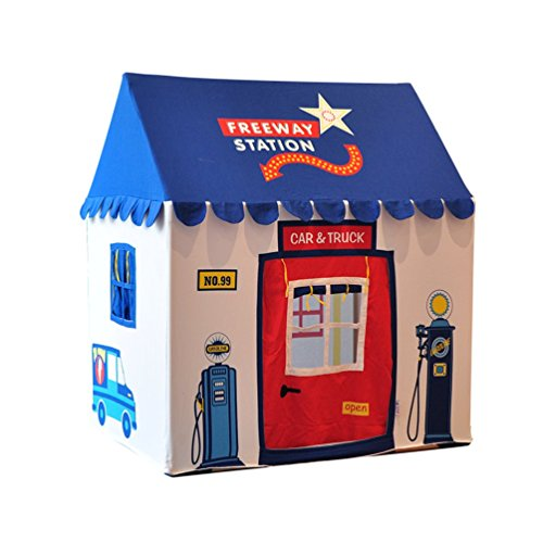 Asweets Garage House Cotton Canvas Play Tent Blue